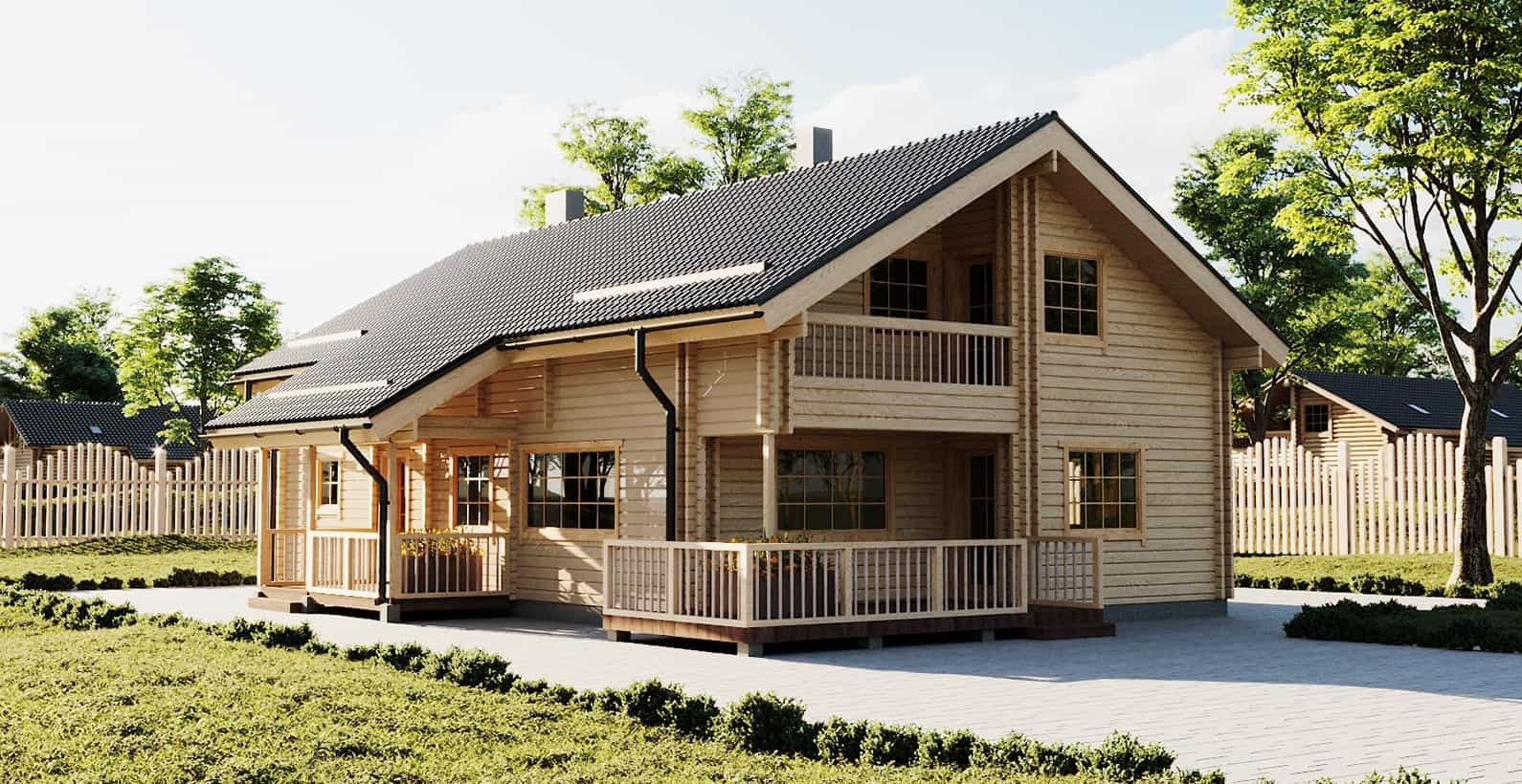 Log & Prefabricated houses directly from producer | Palmatin com