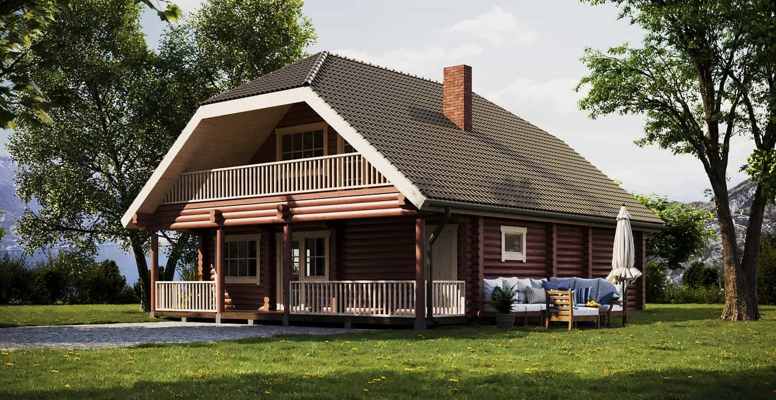 Log & Prefabricated houses directly from producer   Palmatin com