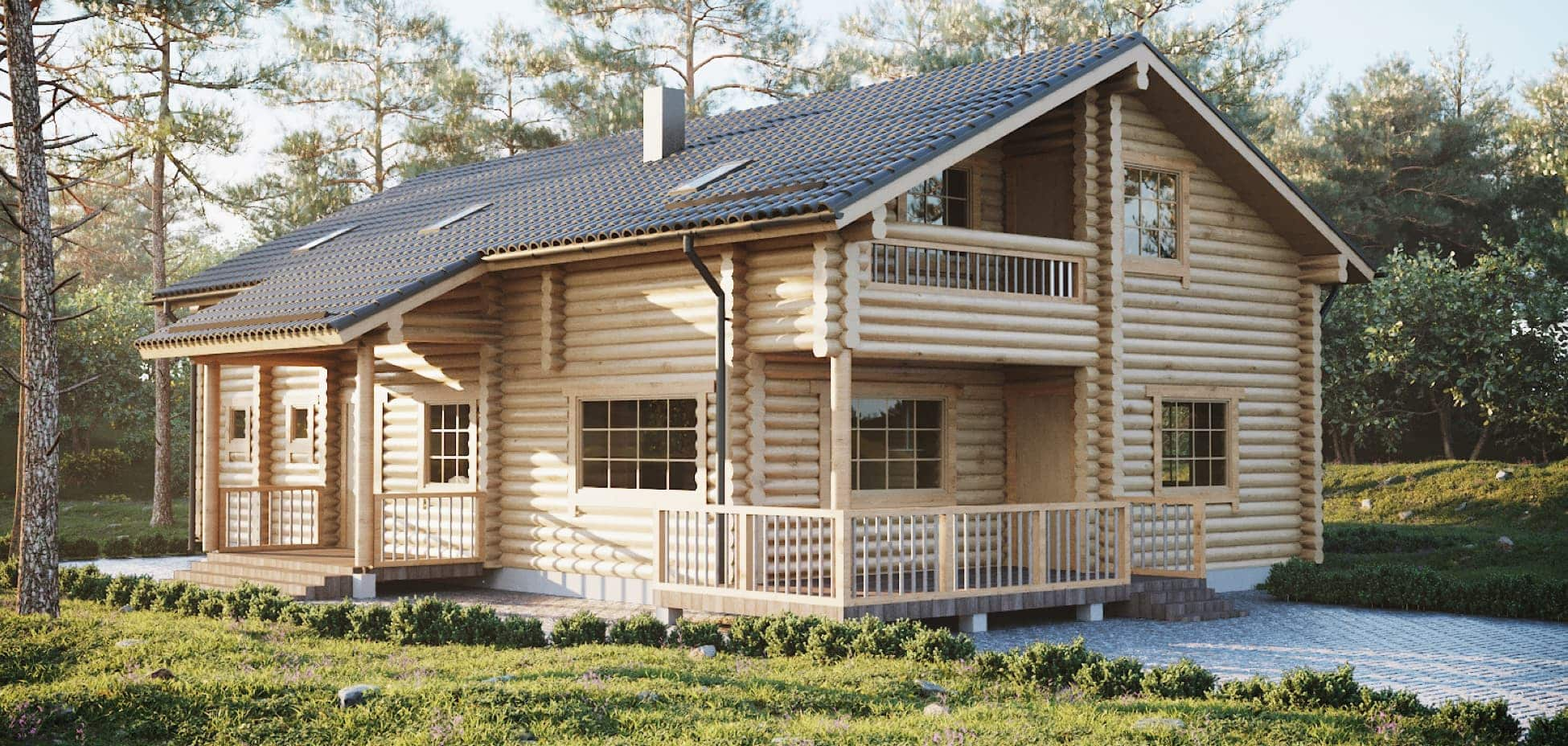 Custom made wooden houses from project to assembly